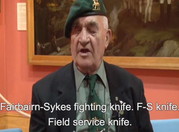 Trooper Stan W. Scott, No. 3 Army Commandos, on the proper use of the Fairbairn-Sykes Fighting knife