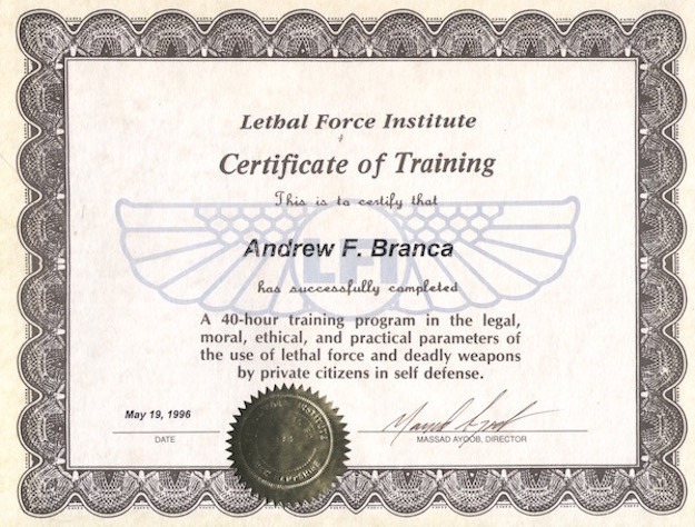 Blast from the Past: My Class Certificate from LFI-I