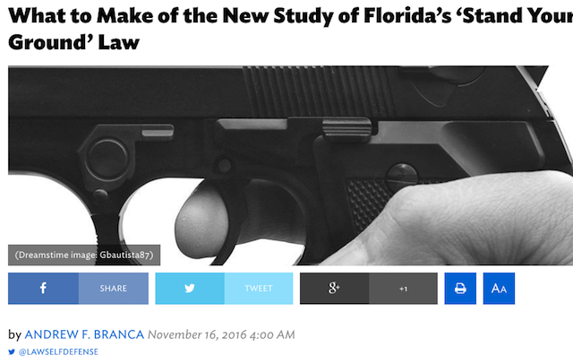"Andrew in National Review: ""What to Make of the New Study of Florida's 'Stand Your Ground' Law"""