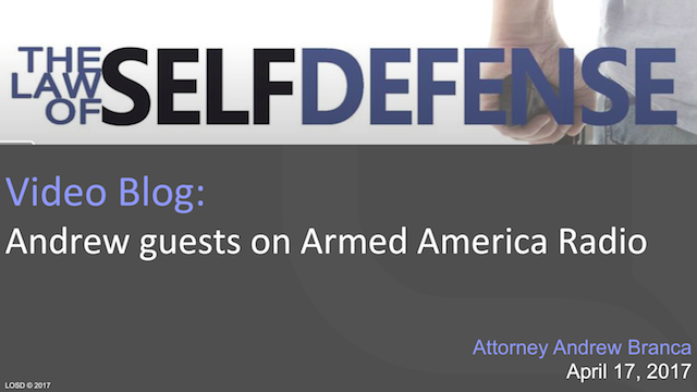 Andrew Guests on Armed America Radio