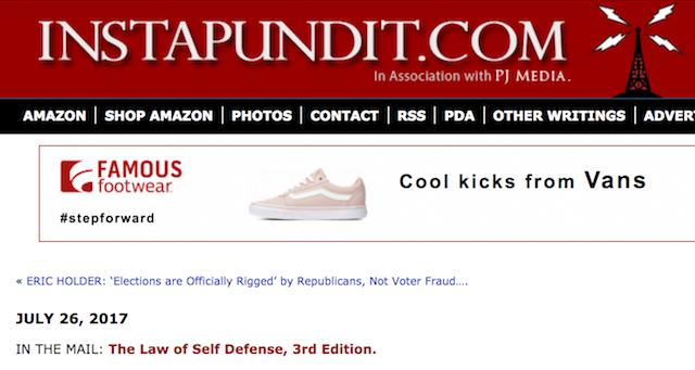 Look who got mentioned on Instapundit!