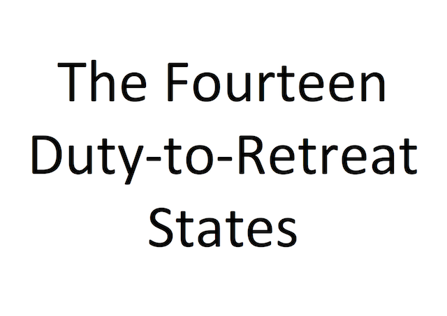 The 14 Duty-to-Retreat States