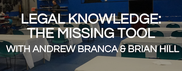 "CANCELLED: EVENT!  ""Legal Knowledge: The Missing Tool"""