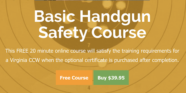 Free Gun Safety Class, Inexpensive Certificate for CCW